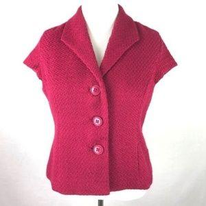 Coldwater Creek Pink Cap Sleeve Bouclé Blazer 14P